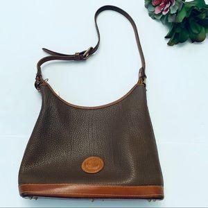 Dooney & Bourke Vintage Shoulder Hobo Bag Brown